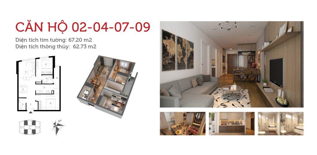 Mặt bằng chung cư IP3 360 Giải Phóng