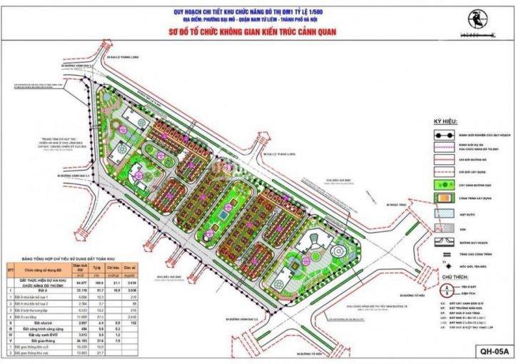 Mặt bằng dự án FLC Premier Park Đại Mỗ
