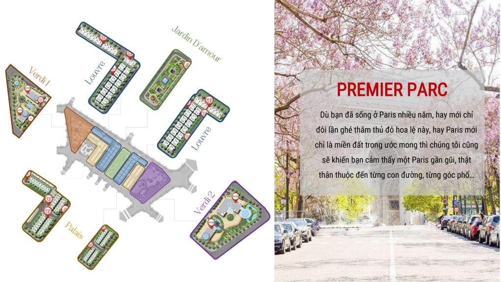 Mặt bằng phân khu dự án FLC Premier Parc Đại Mỗ