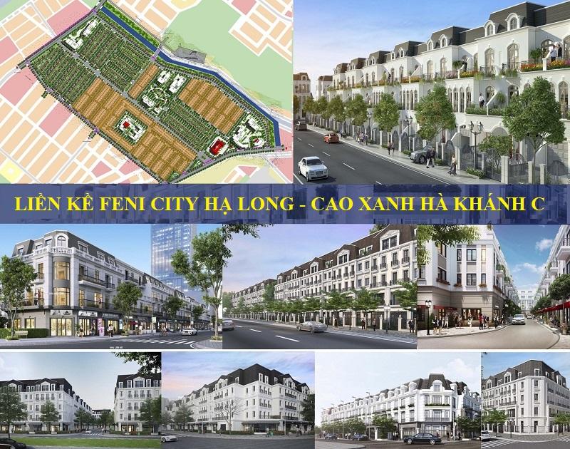Phối cảnh liền kề Feni City Hạ Long - Hà Khánh C