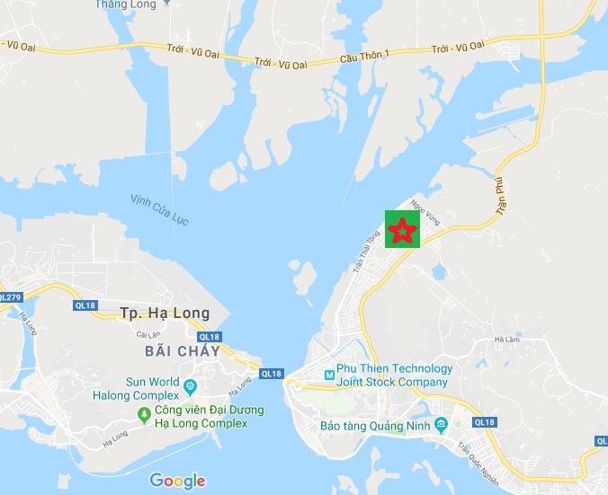 Vị trí dự án khu đô thị Hà Khánh C Hạ Long