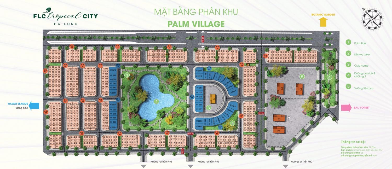 Mặt bằng phân khu Palm Village dự án FLC Tropical Hạ Long