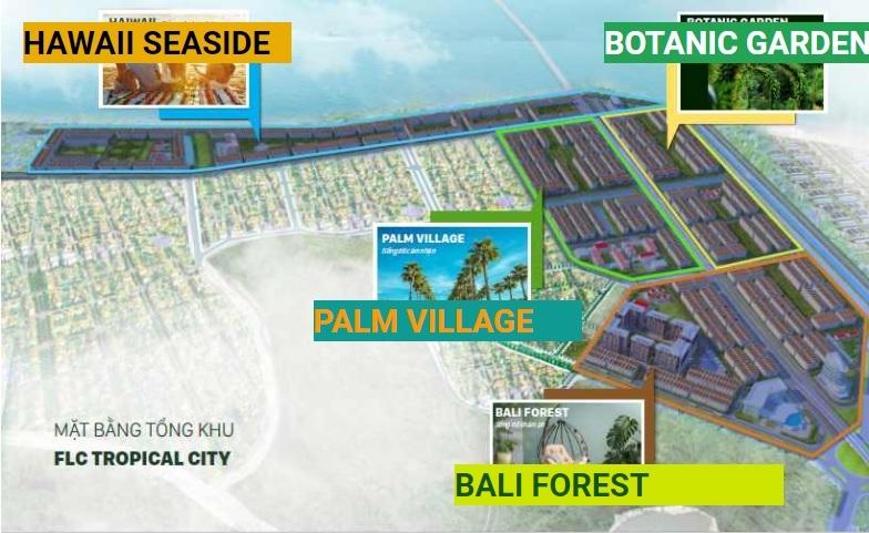 Mặt bằng tổng thể dự án FLC Hạ Long Tropical City