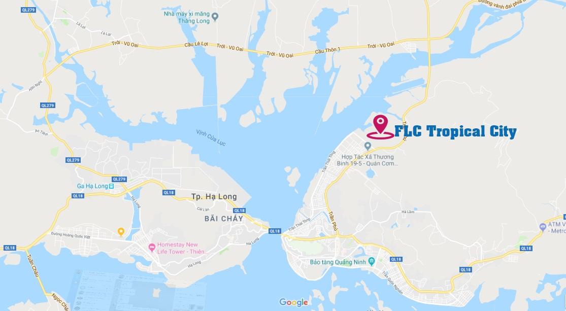 Vị trí dự án FLC Tropical Hạ Long